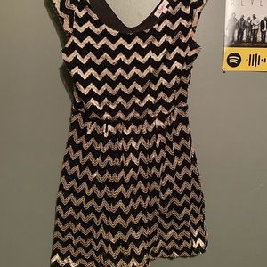 Black and gold patterned dress